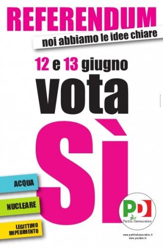 referendum, 2011, nucleare, acqua, legittimo impedimento